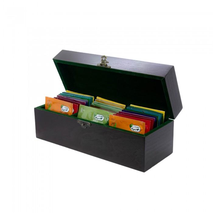 جعبه چوبی ۳۰ عددی دمنوش مهرگیاه