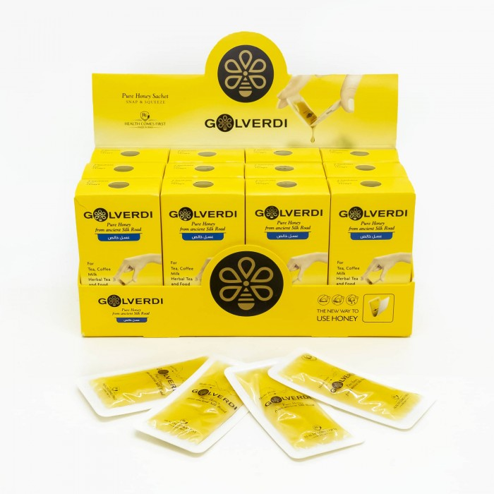 جعبه ۱۲ بسته ای عسل گل وردی