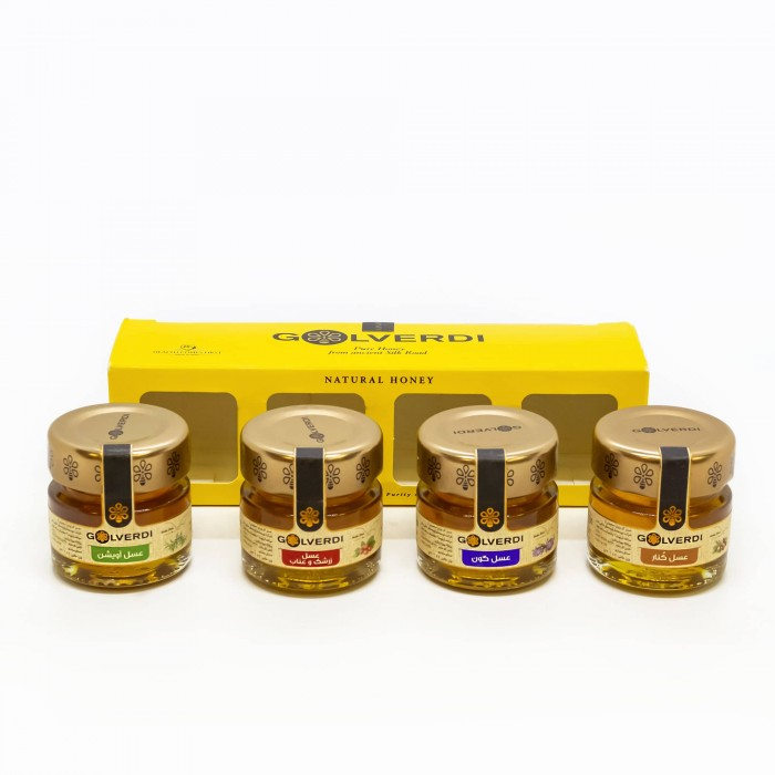 عسل ۴۰ گرمی بسته ۴ عددی گل وردی